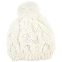 METEO BY YVES SALOMON cable-knit beanie ($68) found on Polyvore