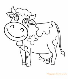Cute cow coloring page cow coloring pages, coloring worksheets, cow colour, Farm Coloring Pages, Animal Coloring Pages, Coloring Sheets, Printable Coloring Pages, Coloring Books, Coloring Worksheets, Online Coloring For Kids, Cow Colour, Cartoon Cow
