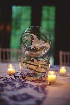 simple wedding centerpieces | Simple and elegant wedding reception centerpiece | OneWed.com