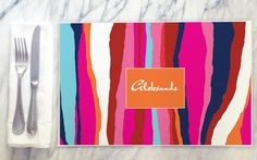Make dinner colorful with a Birdaria placemat. www.birdaria.com