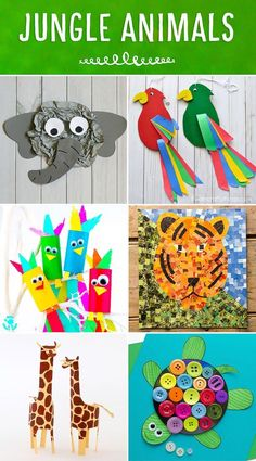 Roundup of colorful and fun jungle animals! A great addition to any Jungle or Safari Themed unit! Colorful and fun twirling parrot craft for kids. Great bird craft for a jungle theme unit, fun kids crafts and jungle crafts for kids. Safari Crafts, Jungle Crafts, Farm Animal Crafts, Animal Crafts For Kids, Zoo Crafts, Tiger Crafts, Card Crafts, Fun Crafts For Kids, Toddler Crafts