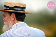 Seersucker suit and straw boater (YEAR ROUND).