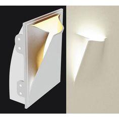 LAMPADA IN GESSO APPLIQUE MODERNO CON PORTALAMPADA E27 WALL LIGHT A MURO PARETE - FUTUR PRINT - APPLIQUE - ILLUMINAZIONE LED - Negozio Online - Futur Print snc luceled.com