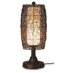 "Bristol 30"" Table Lamp with Walnut Shade"