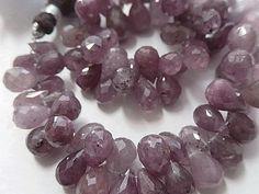 Semi Precious Gemstone Briolettes.  Sapphire Gemstone. by LuxBeads
