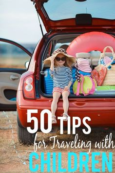 50 Tips for Traveling with Children for a fun and relaxing family vacation - Have more fun and make traveling with kids a breeze with these 50 easy but brilliant tips for traveling with children. Have your best vacation yet! Road Trip With Kids, Family Road Trips, Travel With Kids, Family Travel, Weekend Vacations, Best Vacations, Vacation Ideas, Vacation Packing, Vacation Spots