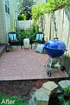 Inspired Wives: DIY Red Brick Patio Big Reveal