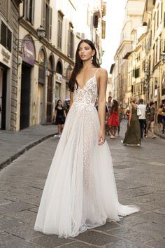Berta Wedding Dresses Half up half down wedding hairstyles flatter almost any bride because of the versatility of styles. Be inspired and learn how to achieve this look. Country Wedding Dresses, Black Wedding Dresses, Princess Wedding Dresses, Wedding Dresses Plus Size, Boho Wedding Dress, Wedding Gowns, Formal Dresses, Muse By Berta, Berta Bridal