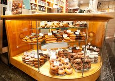 """Top Pot Doughnuts in Seattle, Washington.   """"America's Best Doughnuts"""" from Food & Wine.  An eating destination for me =)"""