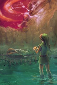 Legend of Zelda - a link to the past art, love this! One of my favorite bits in the game.