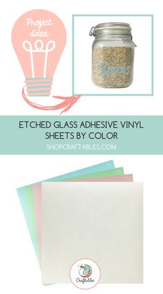 12in x 12in Sheets and Craft Cutters - Craftables Green Etched Glass Adhesive Vinyl for Cricut 5 Silhouette Cameo