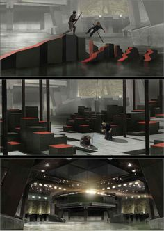 Hunger Games Training Center.  Awesome set!  YES! let's make this..oh wait, we're not that awesome.