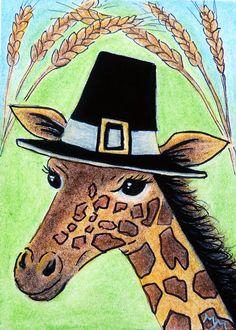 Image result for giraffe thanksgiving