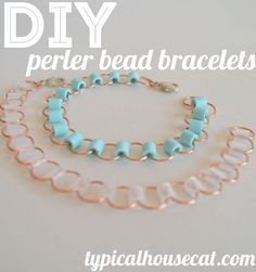 DIY Perler Bead Bracelets   typical house cat