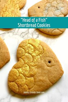 Even the kids will love having the 'head of a fish' on the Rosh Hashanah table, when they're made of cookies! Crunchy sweet shortbread for a sweet new year.  #roshhashanah #jewish #jewishnewyear #baking #cookies #shanatova Vegan Sugar Cookie Recipe, Vegan Chocolate Cookies, Vegan Peanut Butter Cookies, Cookie Dough Recipes, Oatmeal Cookie Recipes, Oatmeal Cookies, Baking Cookies, Shortbread Cookies, Kosher Recipes