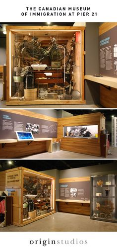 Design Styling, Artifact Display, Canadian Museum of Immigration at Pier Exhibit Design by: Origin Studios Inc. Museum Exhibition Design, Exhibition Display, Design Museum, Kiosk Design, Signage Design, Display Design, Retail Design, Display Ideas, App Design