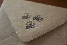 Three Bumble Bees Rubber Stamp. $10.00, via Etsy.