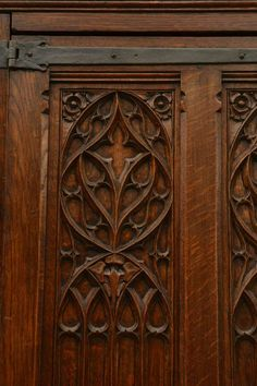 Large Gothic revival oak wardrobe | From a unique collection of antique and modern wardrobes and armoires at http://www.1stdibs.com/furniture/storage-case-pieces/wardrobes-armoires/