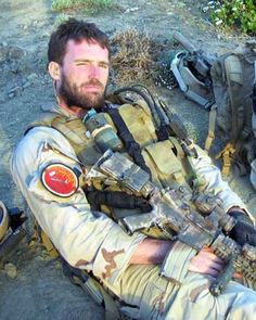 "Lt. Michael Patrick Murphy, USN, SEAL, received the Medal of Honor (posthumous) for his service and sacrifice in Afghanistan.  Bullet in the stomach, bullet through the back and chest, two of his team dead, enemy all around him, firing at him, and Murphy, trained to never give up, trained to explore every option, maintains a cool, professional demeanor at its highest level: ""Roger that, sir. Thank you,"" after asking for air."