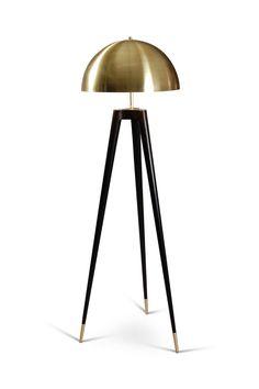 Fife Tripod Lamp Industrial, MidCentury Modern, Metal, Floor Lamp by Matthew Fairbank Design