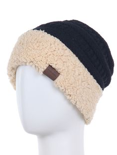 5a9ef7afccb Faux Fur Winter Knit Ponytail Beanie Hat  fashion  clothing  shoes   accessories