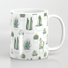 Buy watercolour cacti and succulent Coffee Mug by crumpetsandcrabsticks. Worldwide shipping available at Society6.com. Just one of millions of high quality products available.