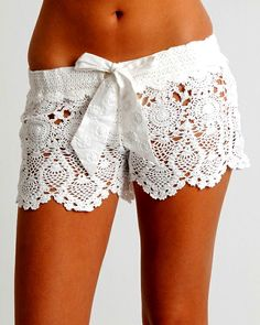 lace swimwear cover ups | These Lace Shorts are Perfect for the Beach as a Swimsuit Cover Up