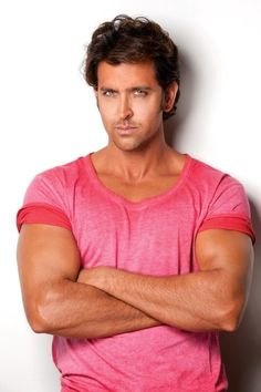 Hrithik Roshan in the pink . Bollywood Stars, Hrithik Roshan Hairstyle, Carole Lombard, Most Handsome Men, Star Wars, Bollywood Celebrities, Best Actor, Perfect Man, American Actors
