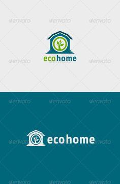 Eco Home  Logo Design Template Vector #logotype Download it here:  http://graphicriver.net/item/eco-home-logo-/6255823?s_rank=1025?ref=nexion
