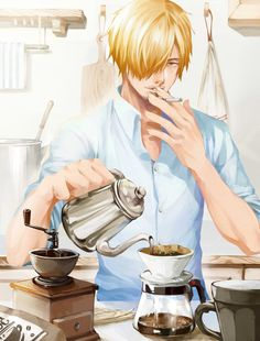 One Piece - I don't particularly like Sanji but this is such a good picture of him