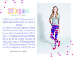 LuLaRoe Tween Leggings.  Buttery Soft and made for tweens.