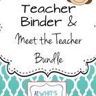 Teacher Binder and Meet the Teacher Bundle {Ombre Style} Back to School Free!