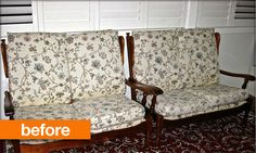 Terrific update :)  Before & After: Vintage Settee Makeover - Knot All that I Seam