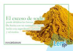 Da Sazón a tus #comidas con Lemi-Sano, una #sazonador vegetal hecho con sal marina, sin Glutamato Monosódico ni ingredientes artificiales.  http://www.linio.com.mx/Lemi-Sano-Lemi%26Jo-DS06-2169223.html