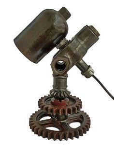 Vintage Light Steampunk Lamp Table Lamp Edison Light