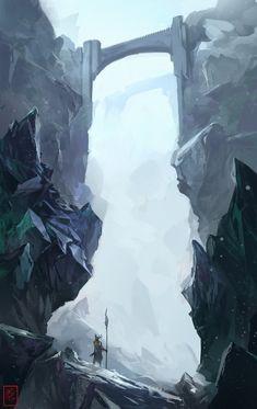 Bluee hills and rocks by ~RaV89 on deviantART