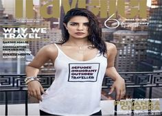 """Priyanka Chopra has been criticized on social media for her traveller (Just and not a refugee) message on a T-shirt she wore for a magazine cover.  Priyanka Chopra has been criticized on social media for her insensitivity over her cover photo on the latest issue of Condé Nast Traveller. In the cover photo, the 34-year-old """"Quantico"""" actress wears a white tank top with the following words 'refugee', 'immigrant' and 'outsider' arranged one below another are struck off with a red line, while…"""