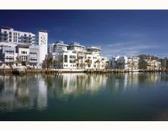 View from the canal looking east, copyright Steven Brooke Outdoor Swimming Pool, Swimming Pools, South Beach, Miami Beach, Indian Creek, Adaptive Reuse, Boat Dock, Condominium, Public Art