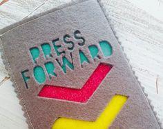 LDS Young Women Press Forward Felt Phone Case