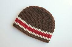 Crochet Boy Hat Crochet Baby Hat Brown Cream by jobeththompson, $12.50