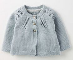 "Cosy Baby Cardigan 71528 Knitted Cardigans at Boden [ ""Buy the Cosy Baby Cardigan now for up your little one in our snuggly cardigan. Made from a cotton-cashmere blend, this design is so soft and cosy that you"", ""Take a look at our Knitwear for Baby. Cardigan Au Crochet, Cardigan Bebe, Cardigan En Maille, Baby Knitting Patterns, Baby Cardigan Knitting Pattern, Knitting Wool, Knit Baby Sweaters, Girls Sweaters, Pull Bebe"