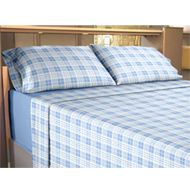 Image of Flannelette Flat Sheet Set Check Blue Flannelette Sheets, Bed Curtains, Flat Sheets, Sheet Sets, King Size, Comforters, Household, New Homes, Blanket