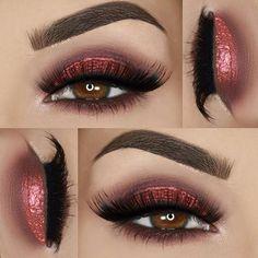 #Repost @paola.11 ・・・ ___ ♡ Eyeshadows: @motivescosmetics 'Mavens Element' palette / @bellaterracosmetics 4 stack shimmer powder 'Bella Donna' ___ ♡ Liner: @anastasiabeverlyhills DipBrow in 'Auburn' ___ ♡ Lashes: @luxylash 'Keep it 100' ___ ♡ Brows: @tamnovacosmetics 'Mink' brow styling duo #motivescosmetics #eyes #red #glitter #eyebrows #summer #june #beauty #makeup #beautyblogger #makeupblogger #love #omg