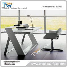 High gloss white most popular moden office design exclusive office furniture desks