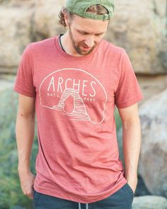 Arches National Park Unisex Tee   Clay