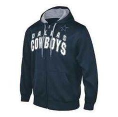 NFL Dallas Cowboys Full Zip Hooded Fleece Sweatshirt [Men's Medium]