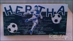 Kreativfalter / Papier - Unikate mit Herz: Für einen Fußball Fan - Geburtstagskarte