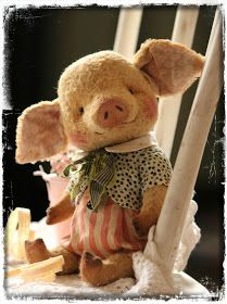 I'm so cute This Little Piggy, Little Doll, Needle Felted Animals, Felt Animals, Teddy Toys, Cute Stuffed Animals, Bear Doll, Stuffed Animal Patterns, Soft Sculpture