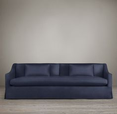8' Belgian Classic Slope Arm Slipcovered Sofa