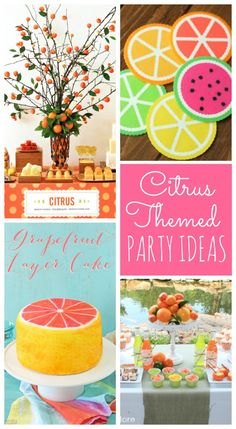 Best Diy Crafts Ideas Capture the warmth of sunny summer days with the gorgeous colors and flavors of citrus. Here are citrus party ideas sure to inspire! Bridal Shower Games, Baby Shower Themes, Bridal Showers, Shower Favors, Baby Showers, Shower Ideas, Diy Party, Party Ideas, Diy Ideas